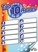 A2 poster for listing the 10 most popular books